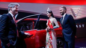 David Beckham trong ngày ra mắt xe Vinfast