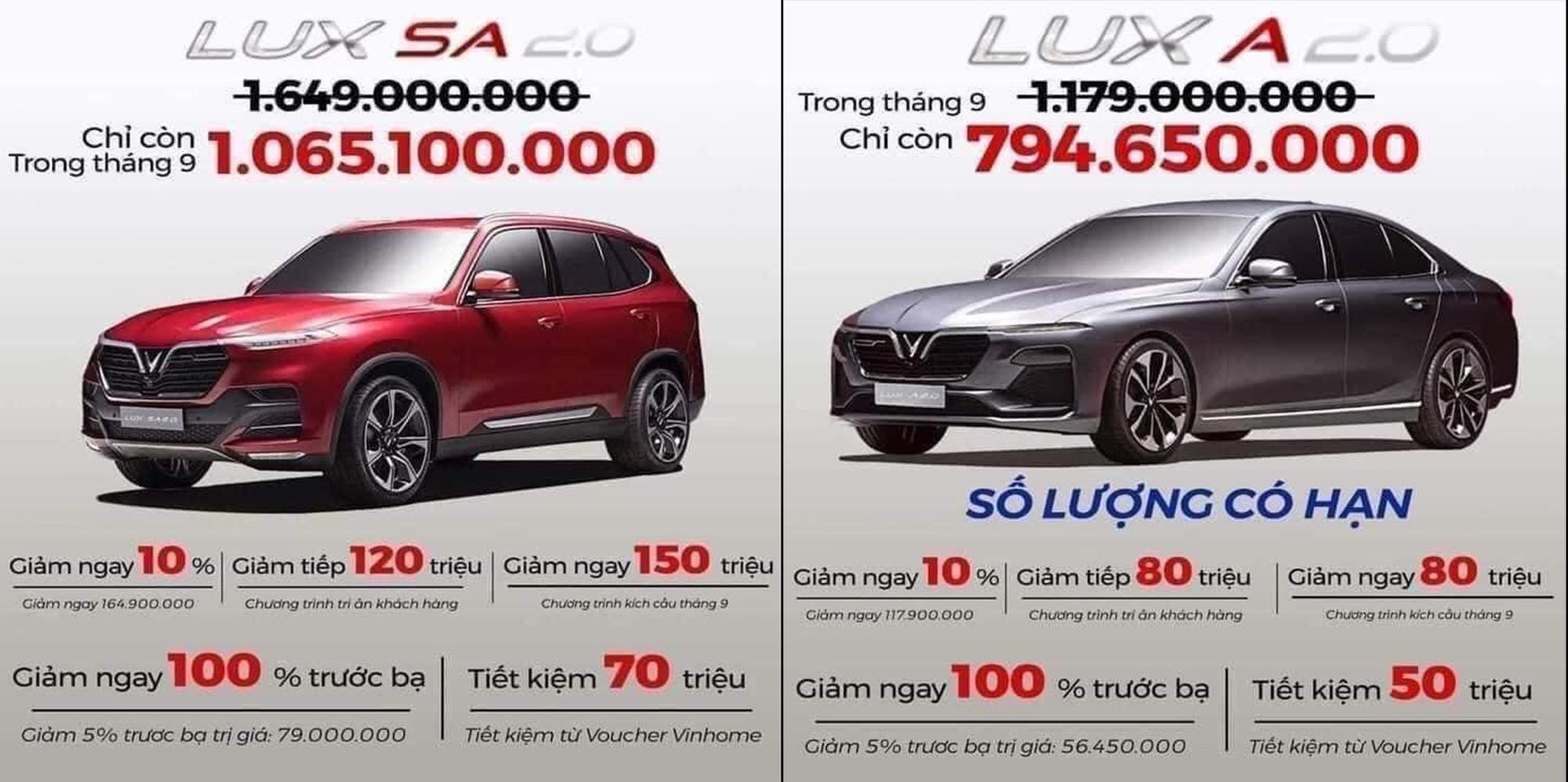 VinFast giảm giá xe đến gần 600 triệu đồng